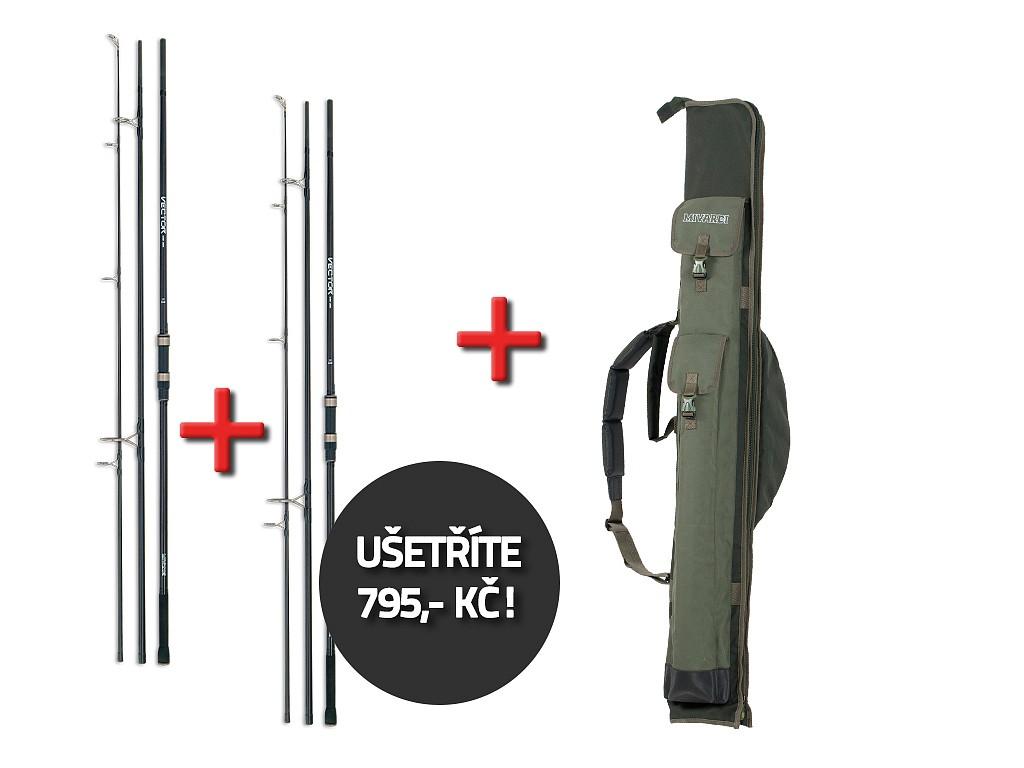 AKCE - 2 kaprové pruty Vector Carp 360SH (3) + luxusní obal na pruty Premium 145 ZDARMA!