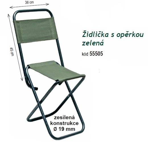 Carpsystem Rybářská židlička s opěrkou zelená